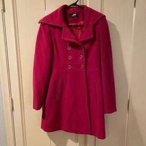 Hot Pink Dress Coat